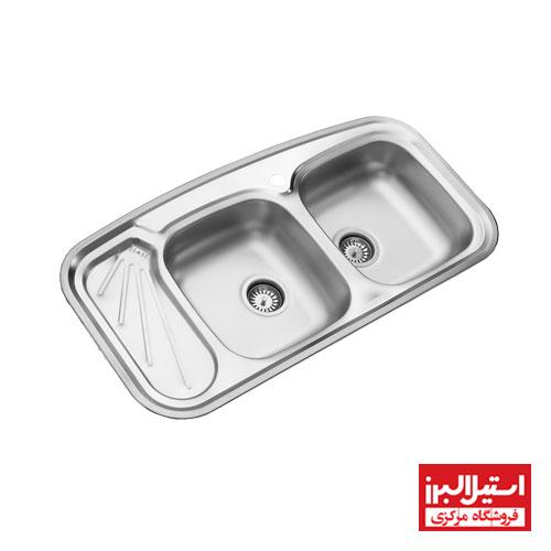 سینک ظرفشویی فانتزی استیل البرز مدل 200