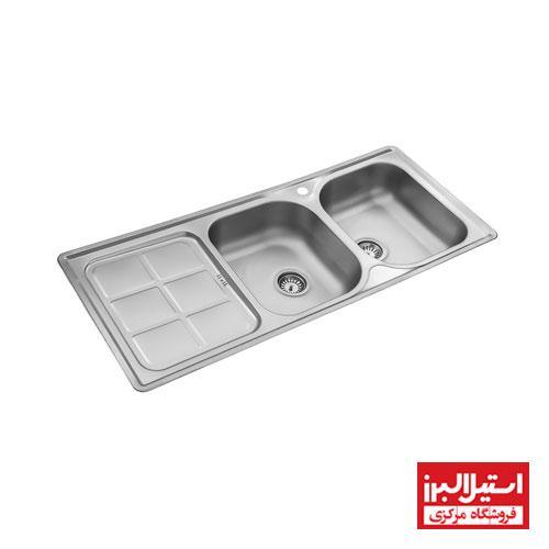 سینک ظرفشویی توکار استیل البرز مدل 215