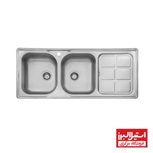 سینک ظرفشویی نیمه فانتزی استیل البرز مدل 215