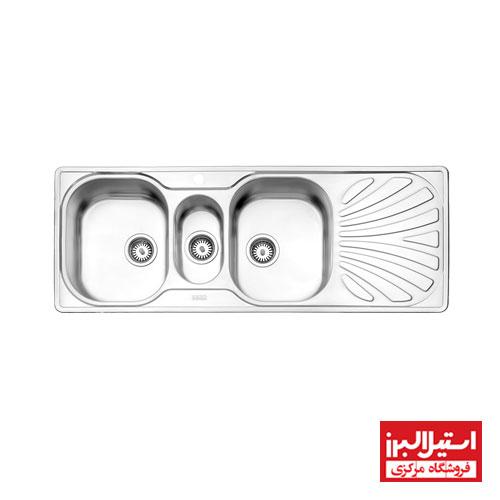 سینک ظرفشویی توکار استیل البرز مدل 530