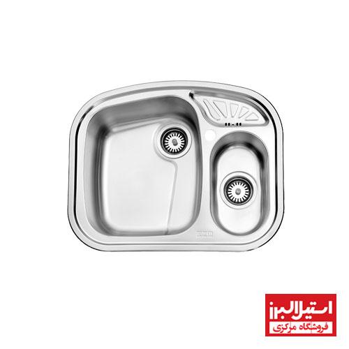 سینک ظرفشویی توکار استیل البرز مدل 605