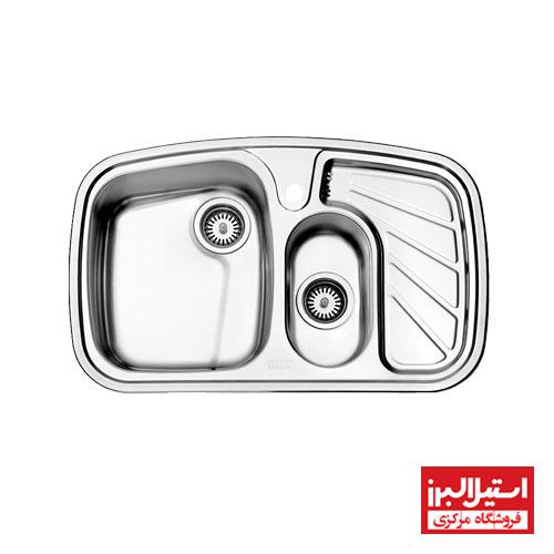 سینک ظرفشویی توکار استیل البرز مدل 608