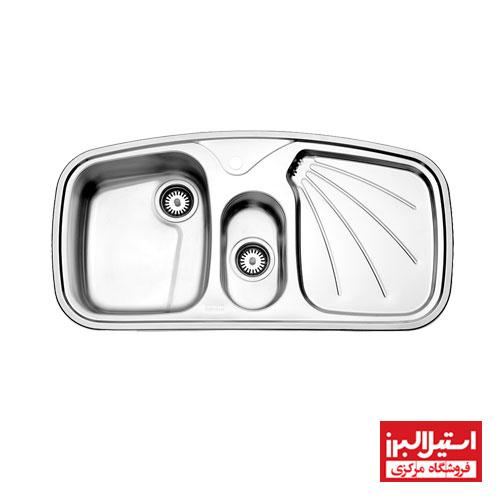 سینک ظرفشویی توکار استیل البرز مدل 610
