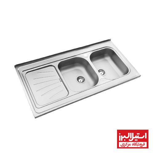 سینک ظرفشویی روکار استیل البرز مدل 214