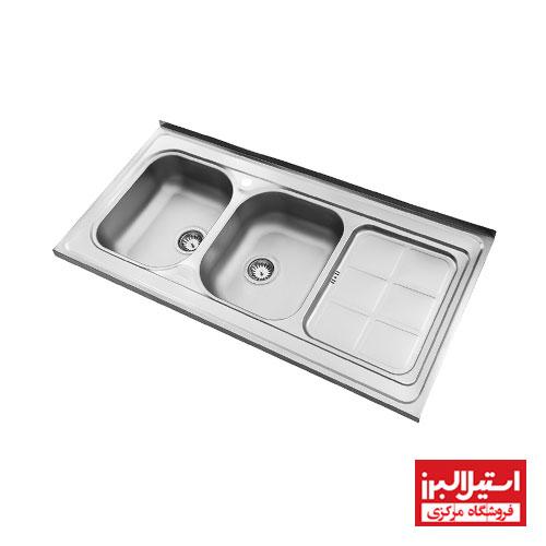 سینک نیمه فانتزی روکار استیل البرز مدل 215