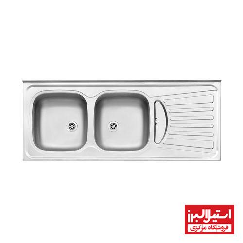سینک نیمه فانتزی روکار استیل البرز مدل 260/50