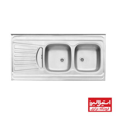سینک روکار استیل البرز مدل 260/60
