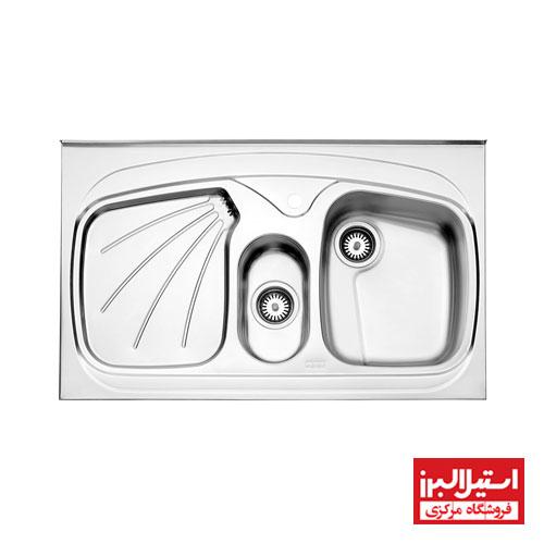 سینک روکار استیل البرز مدل 610/60