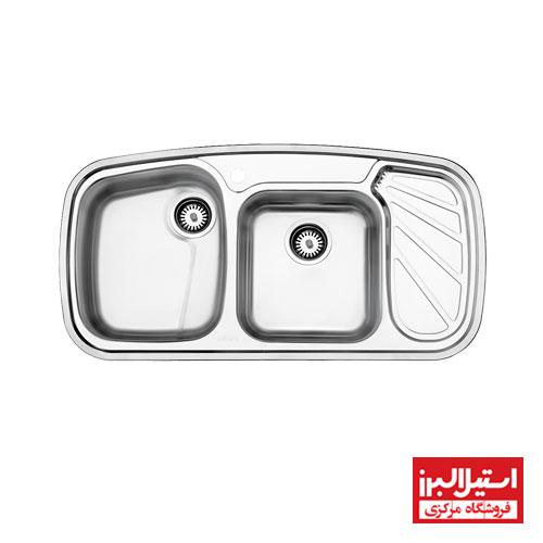 سینک ظرفشویی توکار استیل البرز مدل 611
