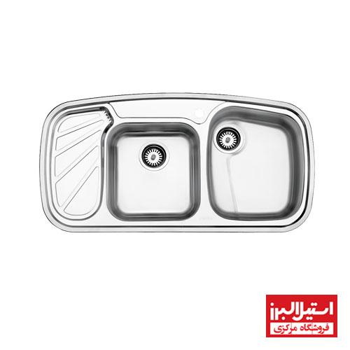 سینک توکار استیل البرز مدل 611