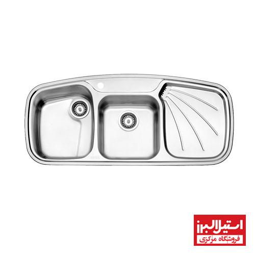 سینک ظرفشویی توکار استیل البرز مدل 614