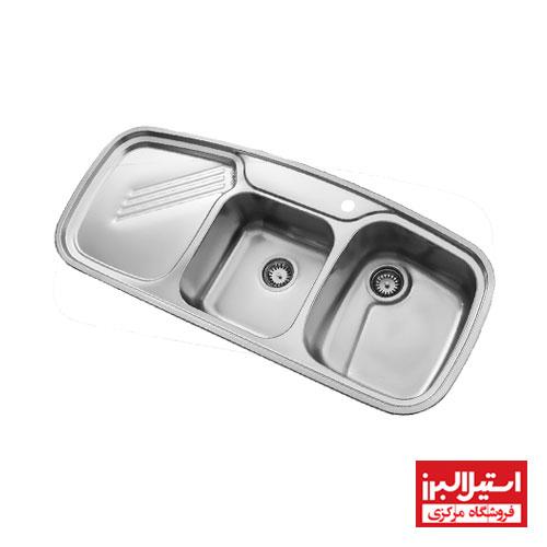 سینک ظرفشویی توکار استیل البرز مدل 614 جدید