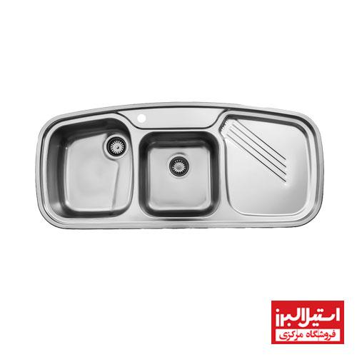 سینک ظرفشویی فانتزی توکار استیل البرز مدل 614 جدید