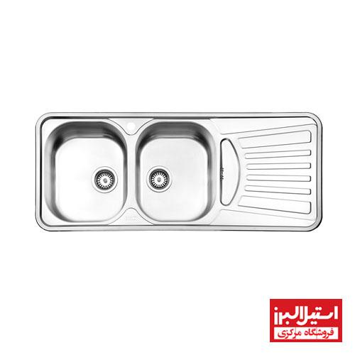 سینک ظرفشویی توکار استیل البرز مدل 725