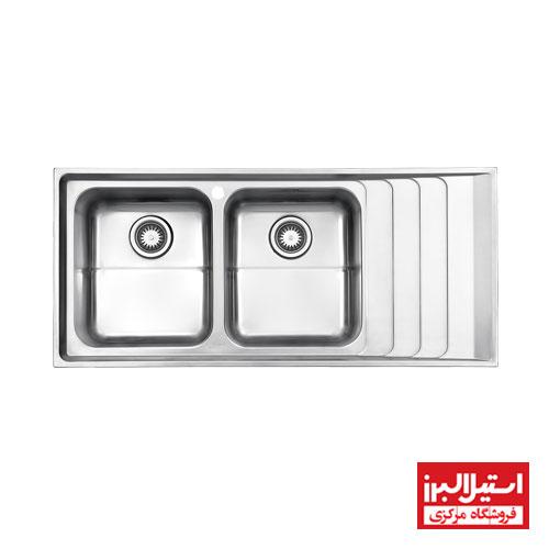 سینک ظرفشویی توکار استیل البرز مدل 734