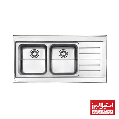 سینک فانتزی روکار استیل البرز مدل 735