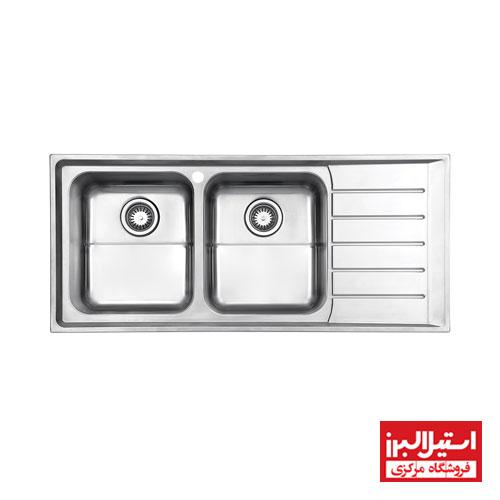 سینک ظرفشویی توکار استیل البرز مدل 735
