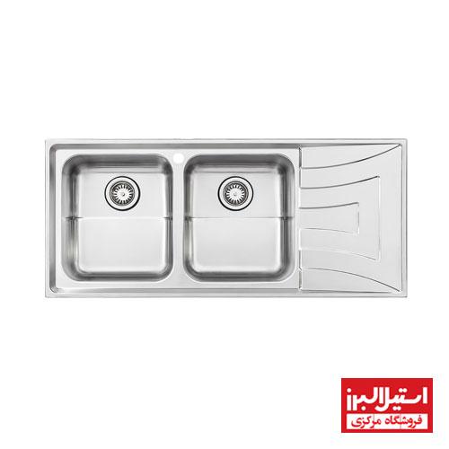 سینک ظرفشویی توکار استیل البرز مدل 736