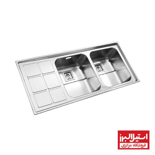 سینک ظرفشویی توکار استیل البرز مدل 761