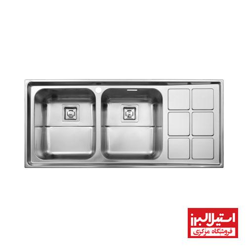 سینک ظرفشویی فانتزی توکار استیل البرز مدل 761