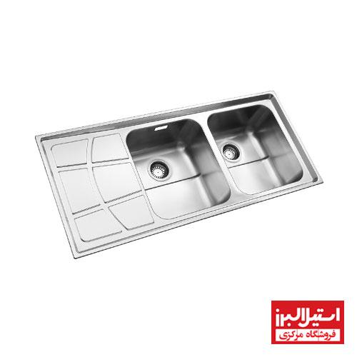 سینک ظرفشویی فانتزی توکار استیل البرز مدل 762