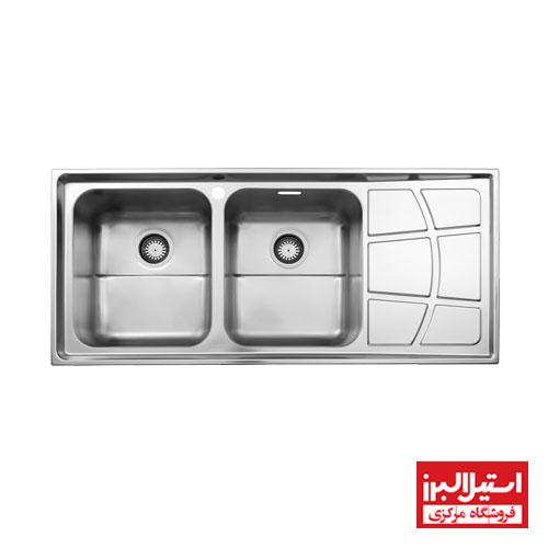 سینک ظرفشویی توکار استیل البرز مدل 762
