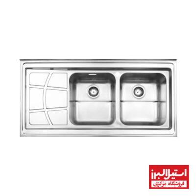 سینک روکار استیل البرز مدل 762