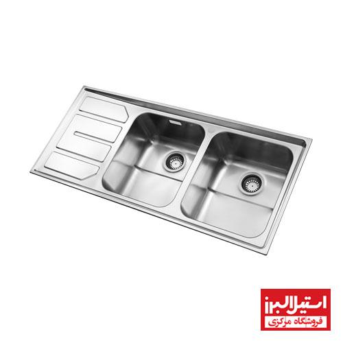 سینک ظرفشویی توکار استیل البرز مدل 763