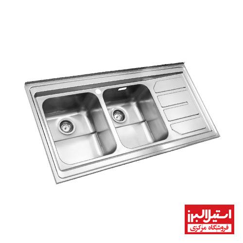 سینک ظرفشویی فانتزی روکار استیل البرز مدل 763