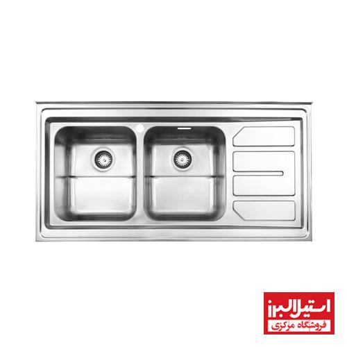 سینک ظرفشویی روکار استیل البرز مدل 763