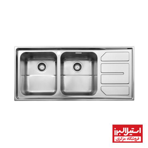 سینک ظرفشویی فانتزی توکار استیل البرز مدل 763