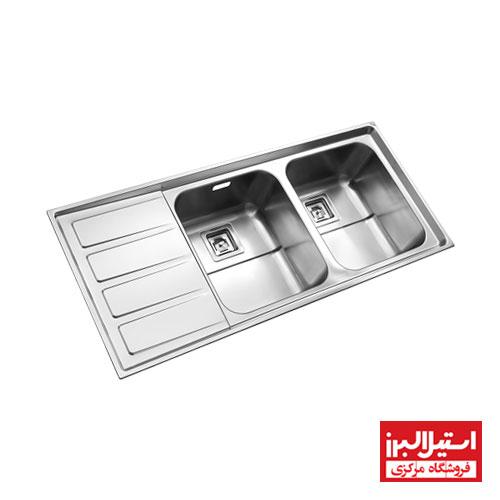 سینک ظرفشویی توکار استیل البرز مدل 764