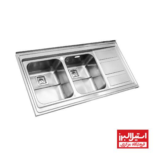 سینک ظرفشویی روکار استیل البرز مدل 765