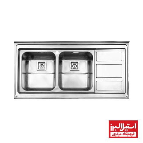 سینک ظرفشویی فانتزی روکار استیل البرز مدل 765