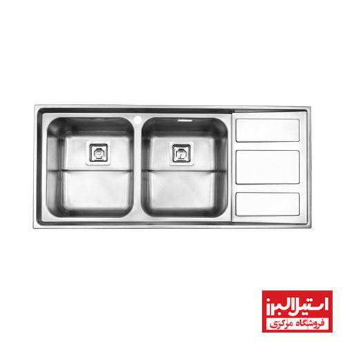 سینک ظرفشویی فانتزی توکار استیل البرز مدل 765