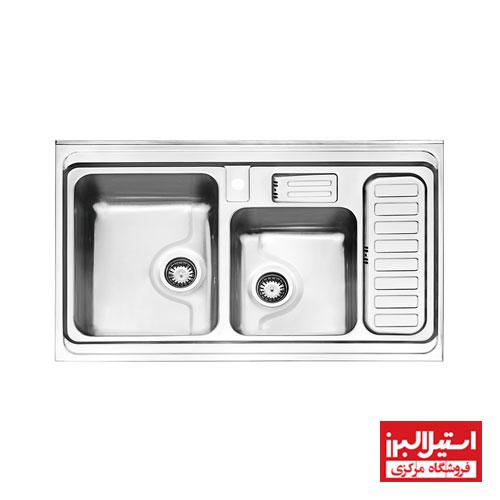 سینک ظرفشویی روکار استیل البرز مدل 812