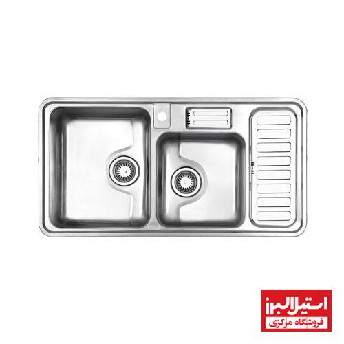 سینک ظرفشویی توکار استیل البرز مدل 812
