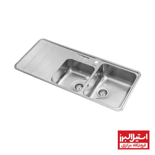 سینک ظرفشویی توکار استیل البرز مدل 816