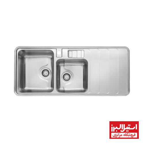 سینک ظرفشویی فانتزی توکار استیل البرز مدل 816