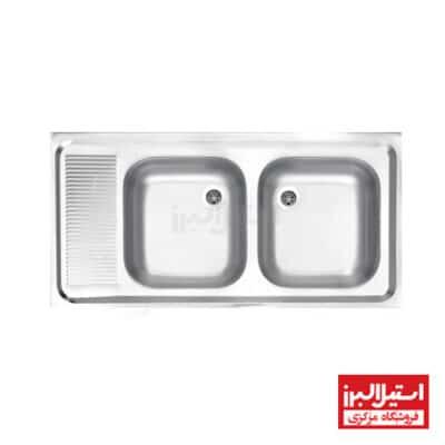 سینک روکار استیل البرز مدل 100/50